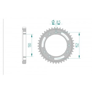 2054-41 SPROCKET REAR (P)