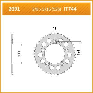 2091-35 SPROCKET REAR (J) (744)