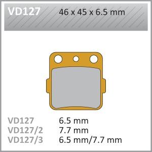 VES PADS S.MET VD127/2 FA84