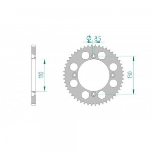 AFAM REAR SPROCKET GREY HARD ANODIZED GROOVED 11104-52