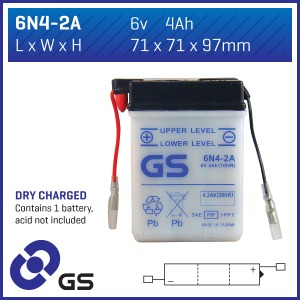GS Battery - 6N42A (DC) (CASE 10)