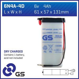 GS Battery - 6N4A4D(DC)  (CASE 10)