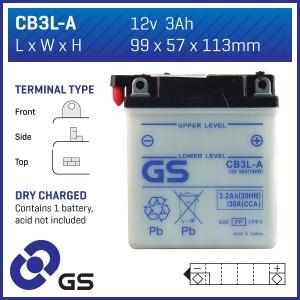 GS Battery  CB3LA (DC)  (CASE 10)