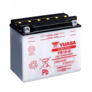 YUASA Battery YB16B CP  W/ACID PACK  (CASE 2)
