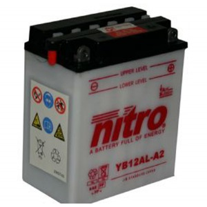NITRO BATTERY YB12AL-A2 open with acid pack (CB12ALA2) (CASE 4)