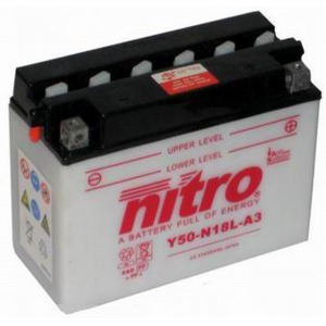 NITRO BATTERY Y50N18L-A3 open with acid pack (CASE 2)