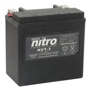 NITRO BATTERY HVT 03(YTX14LBS) AGM SEALED Harley OE 65958-04 12V (CASE 3)
