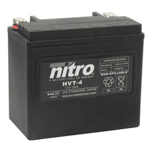 NITRO BATTERY HVT 04(YB16LB) AGM SEALED Harley OE 65989-90 12V (CASE 2)