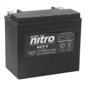 NITRO BATTERY HVT 05 (YB16B) AGM SEALED Harley OE 65991-82 12V (CASE 2)