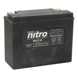 NITRO BATTERY HVT 06(Y50N18LA3) AGM SEALED Harley OE 66010-82 12V (CASE 2)