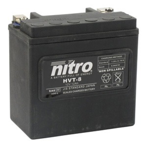 NITRO BATTERY HVT 08(YTX14BS) AGM SEALED Harley OE 66007-84 12V (CASE 3)