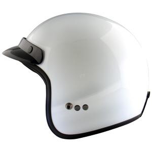 HELMET  JET  WHITE  L-60