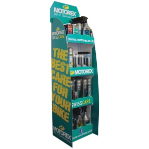 MOTOREX CARE PRODUCT DISPLAY STAND