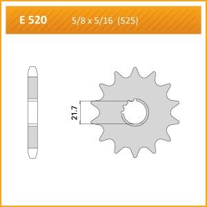 520-17KM SPROCKET-FRONT-520