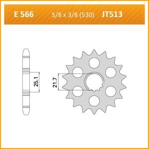 566-16KM SPROCKET-FRONT-520