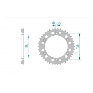 1509-52E SPROCKET-REAR ALLOY