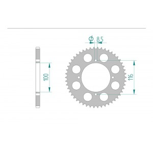 2065-45E SPROCKET-REAR ALLOY