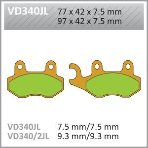VES PADS-SIN VD340JL (FA135/FA214)